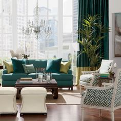 Color Combo Turquoise Lime Green Home Decor On