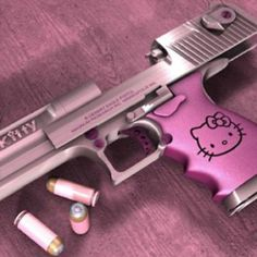 Wtf!!!!! This hello kitty crap is getting out of hand.... Plus a girl who owns a gun like this prolly can't shoot anyway.......