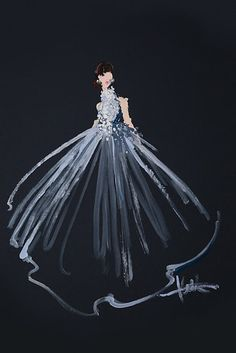 This Fashion Illustrator Painted Oscars Gowns Using Only Q-Tips