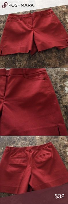 """❗️Final Price NWT WHBM """"Cinnamon"""" Tailored Shorts Gorgeous color and well tailored 5 inch shorts new with tags White House Black Market Shorts"""