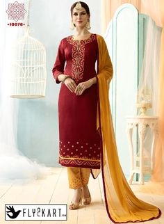 Maroon and Chikoo Color Salwar Suit http://www.fly2kart.com/maroon-and-chikoo-color-salwar-suit.html?utm_content=bufferb2580&utm_medium=social&utm_source=pinterest.com&utm_campaign=buffer BIG OFFER SALE UP TO 50% OFF!!! +91-8000800110 CALL OR WHATSAPP