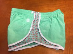 Now you can show off your Southern Preppy side even when you're running! These cute shorts are green and feature whales riding the waves along the sides. These make great stocking stuffers!! We gladly offer free shipping on these shorts! #run #running #runninggirl #simplysouthern