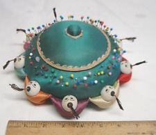 unique pin cushions | ... Vintage Hand Made Chinese Silk Pin Cushion with Children Holding Hands