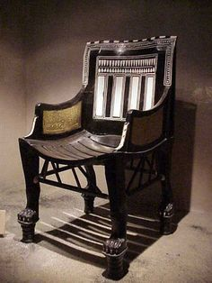 King Tut's chair from his childhood.
