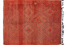 Pomegranate Moroccan Rug, 6'2
