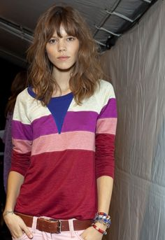 Freja Beha Erichsen - Isabel Marant - S/S 2011 Backstage. Love her hair! Hairstyles With Bangs, Pretty Hairstyles, Wavy Hair, Her Hair, Honey Brown Hair, Freja Beha Erichsen, Hair Icon, Mid Length Hair, Looks Black