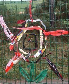 Wire fencing = weaving opportunities