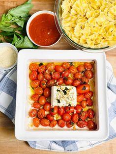 Tomato Dishes, Pasta Dishes, Food Dishes, Main Dishes, Side Dishes, Feta Pasta, Parmesan Pasta, Basil Pasta, Clean Recipes