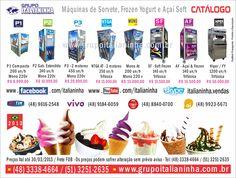 Catálogo Italianinha 2013   Máquinas de Sorvete Expresso, Frozen Yogurt, Açaí, Milk Shake, Melhor foto, foto mais clicada, melhores fotografias, máquinas tutoriais, venda de Máquinas de Sorvete - Direto de Fábrica