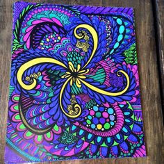 Thank you Edna Phelps for submitting this coloring masterpiece and brightening up our day! #‎adultcoloring‬ #mycolorit #coloringpages #doodle