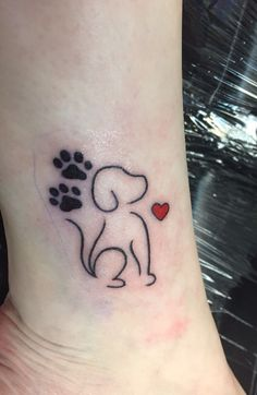Best Puppy tattoo ideas - Topstoryfeed- You can examine all tattoo models and print them out. Fake Tattoo, Tattoo Diy, Wrist Tattoos, Mini Tattoos, Body Art Tattoos, Small Tattoos, Tatoos, Puppy Tattoo, Tattoo For Dog