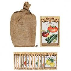 From the oldest seed company in the USA, this Heirloom Seed Collection is the perfect gift for the gardener. The vintage-style burlap bag comes filled Garden Seeds, Garden Plants, Balcony Garden, Spring Sign, Garden Gifts, Organic Gardening, Urban Gardening, Gardening Tips, Thoughtful Gifts