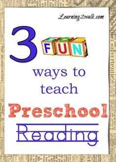 3 Fun Ways to Teach Preschool Reading