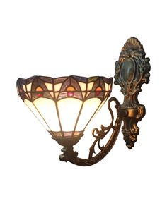 EMS Free Ship Wall Lamps Tiffany Style No.8S10002 Blue Upward Wall Sconces Stained Glass Meditteranean With 1 Light Home Hallway(China (Mainland))