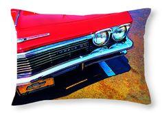 "Super Sport 3 - Chevy Impala Classic Car Throw Pillow 20"" x 14"""