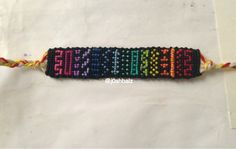Rainbow aztec tribal friendship bracelet pattern number #11165 - For more patterns and tutorials visit our web or the app!