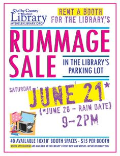 Rummage Sale at SCPL on June 21st