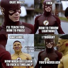 He is the very first Kid Flash with the superhuman speed powers. Check out the funniest Kid Flash memes that will make you laugh uncontrollably. Flash Barry Allen, Superhero Shows, Superhero Memes, Kid Flash, The Flashpoint, Arrow Memes, Arrow Funny, Flash Funny, Flash Wallpaper