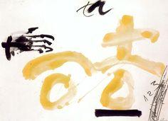 Antoni Tàpies - '123'. 1998. Pintura, vernís i llapis sobre paper. 78 x 106 cm