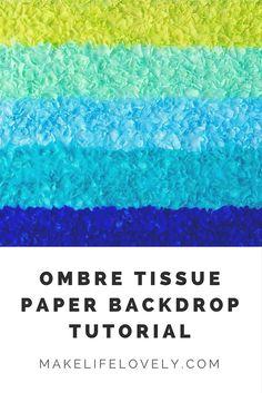 Ombre Tissue Paper B