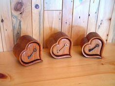 Large Heart Shaped Wooden Box
