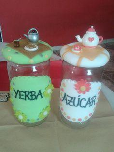 frascos decorados con porcelana fria - Google Search