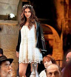 Deepika Padukone on the sets of 'Tamasha'