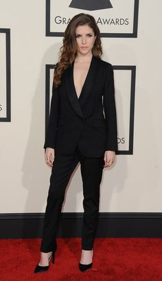 Anna Kendrick | All The Looks From The 2015 Grammy Awards best suit on a women I have seen in years