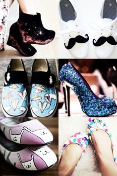 Inspirações: Customização de roupas - Sapatos                                                                                                                                                      Mais