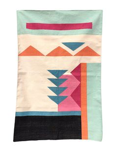 This geometric area rug has been ethically hand woven in the finest cotton yarns by artisans in Rajasthan, India, using a traditional weaving technique which is native to this region. The purchase of this handcraft. Weaving Techniques, Hand Weaving, Home Goods, Area Rugs, Carpet, Kids Rugs, Quilts, Crafts, Handmade