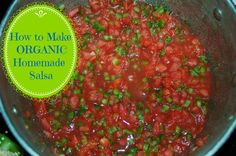 How to Make Organic Homemade Salsa How to Make your own Homemade Organic Salsa Recipe Organic Homemade, Homemade Salsa, Organic Recipes, Mexican Menu, Mexican Food Recipes, Healthy Recipes, Free Recipes, Nutritional Yeast Recipes, Benefits Of Organic Food