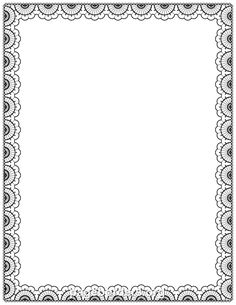 Free lace border templates including printable border paper and clip art versions. Borders For Paper, Borders And Frames, Printable Border, Printable Labels, Printables, Page Borders, Borders Free, Doodle Borders, Border Templates