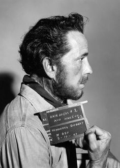 Humphrey Bogart hair and makeup test for THE TREASURE OF THE SIERRA MADRE ('48)