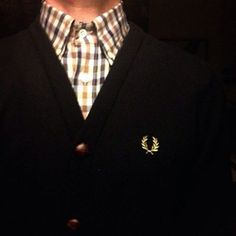 Fred Perry ARE YOU LOVING THIS #fredperry #shawlneckcardigan #classic #stylish #dapper #oldschool #RobertRedfern #blackpelican #fashionbloggers #classic #stylish #dapper #oldschool #panache