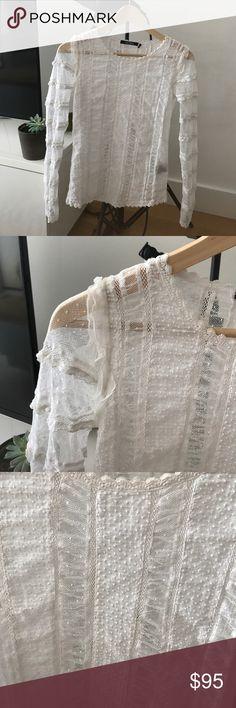 ISABEL MARANT WHITE TRANSPARENT TOP Super elegant top Isabel Marant. Size 38. Material coton 98% and Elastham. Isabel Marant Tops Blouses