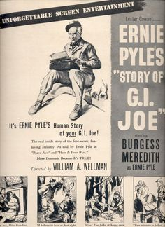 "June 25, 1945    Ernie Pyles ""Story of G.I. Joe""' movie   ad  (#3771)"