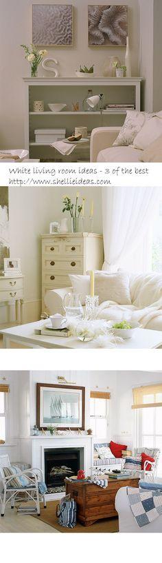White living room ideas – 3 of the best