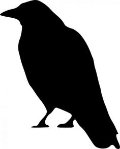 Discover the secret meaning of the mysterious Crow Symbol. Pictures and meanings of Native American Indian symbols including the Crow Symbol. The Crow Symbol meaning. Moldes Halloween, Manualidades Halloween, Halloween Crafts, The Crow, Motifs Primitifs, Scary Birds, Crow Silhouette, Desenhos Halloween, Merle