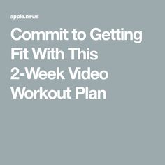 Give us 30 minutes a day for 14 days straight, and by the end of this two-week video workout plan, you'll feel stronger, more energized, and more toned. 2 Week Workout Plan, Hiit Workout Routine, Weekly Workout Plans, 30 Minute Yoga, 30 Minute Cardio, Tone Up Workouts, Bodyweight Strength Training, Cardio Pilates, Total Body Toning