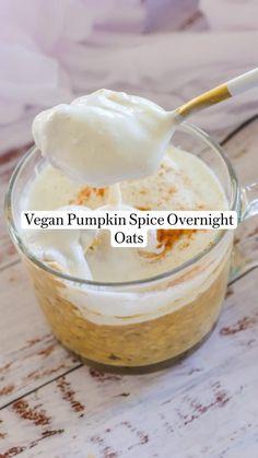 Sweet Breakfast, Breakfast Recipes, Breakfast Bowls, Vegan Breakfast, Fun Baking Recipes, Snack Recipes, Cooking Recipes, Vegan Pumpkin, Pumpkin Spice