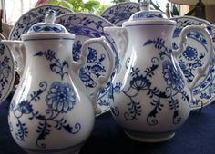Zwiebelmuster Bohemia Meissen Style Blue Onion Coffee Pot