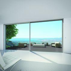 Schüco ASS 77 PD, Aluminium Sliding System Panorama Design. Öppnas med en knapptryckning eller via din smartphone!