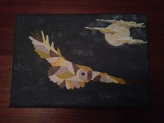 """Night Owl"" - mini canvas"