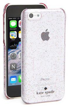 kate spade new york 'glitter' iPhone 5c case | Nordstrom