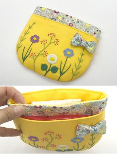 Bag Patches, Sewing Crafts, Sewing Projects, Diy And Crafts, Coin Purse, Embroidery, Wallet, Crochet, Megumi
