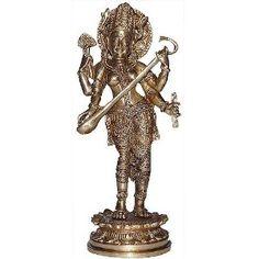 Figurine Saraswatî debout - Statuette bouddhisme en laiton: Amazon.fr: Cuisine & Maison