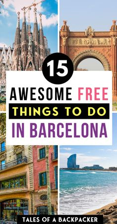 15 Free Things to Do in Barcelona - - Barcelona is an amazing city in Catalonia, Spain. There are plenty of awesome free things to do in Barcelona, whatever time of year you visit Barcelona. Here are some of my favourite free activities in the city. Spain Travel Guide, Europe Travel Tips, European Travel, Travel Destinations, Budget Travel, Food Travel, Travel Hacks, Travel Packing, Travel Ideas