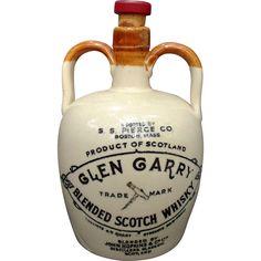 Pottery Jug of Glen Garry Blended Scotch Whisky S. S. Pierce Co. from saltymaggie on Ruby Lane