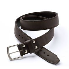"""Saddleback Leather's Tow Belt.  Made of full-grain leather.  From their listing: """"Three belts built into one stitched together. The two visible belts are plenty strong, but in case you need to tow a train one day."""""""