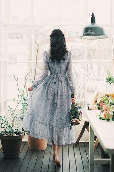 Korean Fashion Dress, Korean Dress, Ulzzang Fashion, Muslim Fashion, Asian Fashion, Fashion Dresses, Trendy Dresses, Simple Dresses, Cute Dresses
